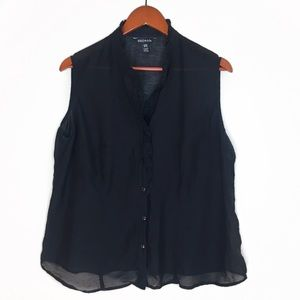 George Sleeveless Button Down Blouse